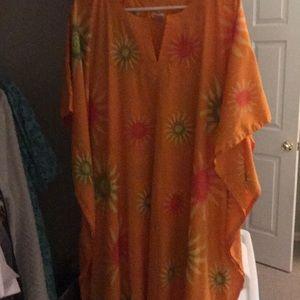 Rima orange printed pullover